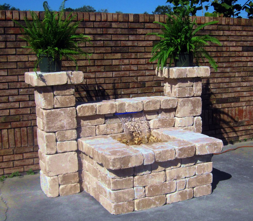 lakeview water feature backyard getaway
