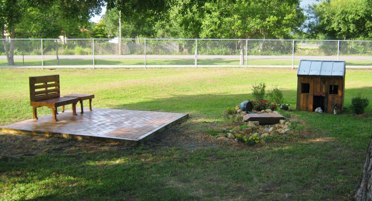 memorial garden at vintage paws sanctuary backyard getaway