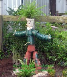 re-purposed backyard