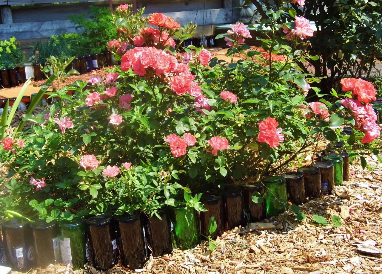 Simple backyard gardens - Repurposed Bottles Backyard Getaway