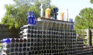 beer bottle fountain